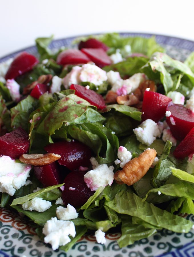 Beet Goat Cheese and Pecan Salad